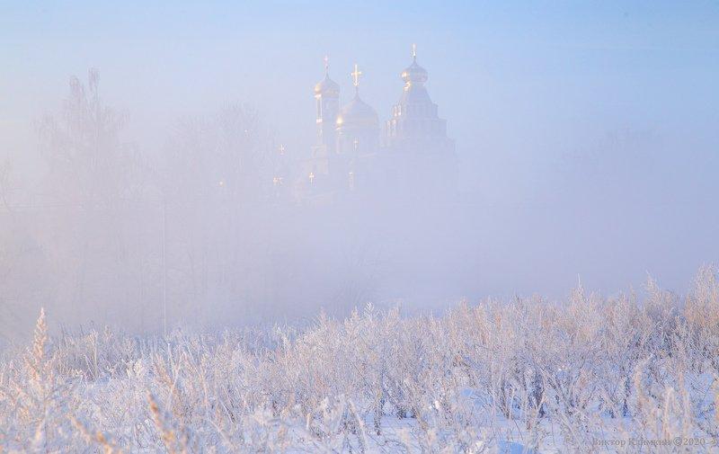 ново-иерусалимский монастырь, истра, зима, рассвет, утро Нежное утроphoto preview