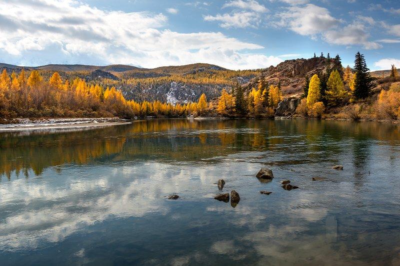 горный, алтай, река, чуя, осень Осень на Чуеphoto preview