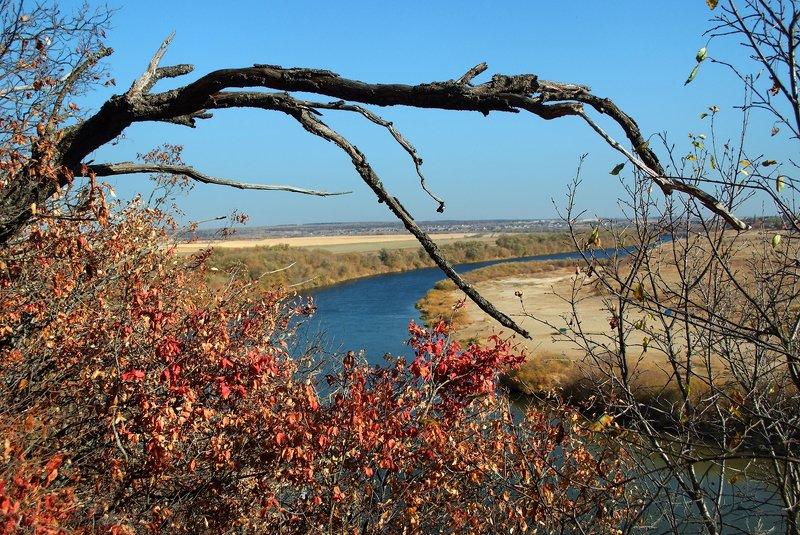 осень, скалы, река, солнце, деревья Вид на Дон с Галичьей горы в октябреphoto preview