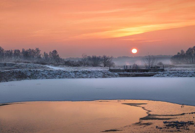 рассвет, небо, снег, Первый снегphoto preview