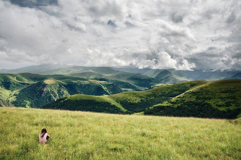 кавказ, облака, горы Кавказ подо мною, одна в вышине...photo preview