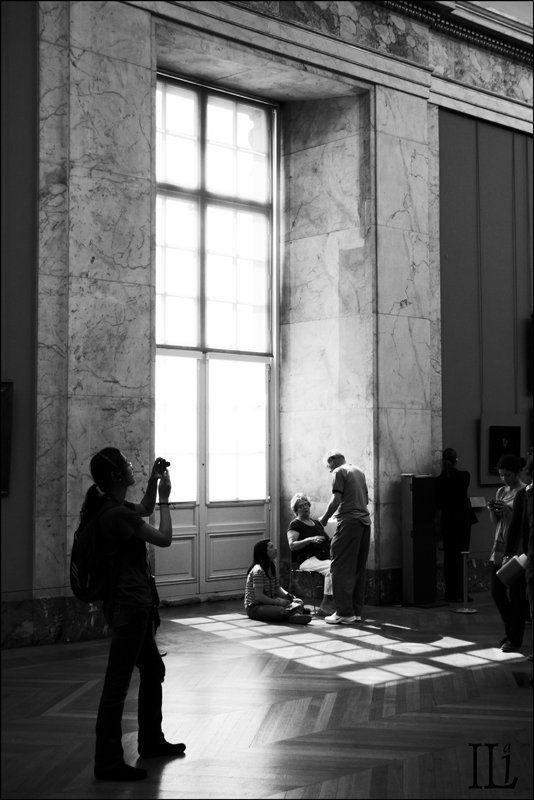 париж, лувр, окно Четыре окна Лувраphoto preview