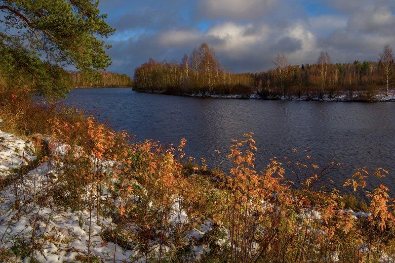 снег, река, осень, октябрь Первый снегphoto preview