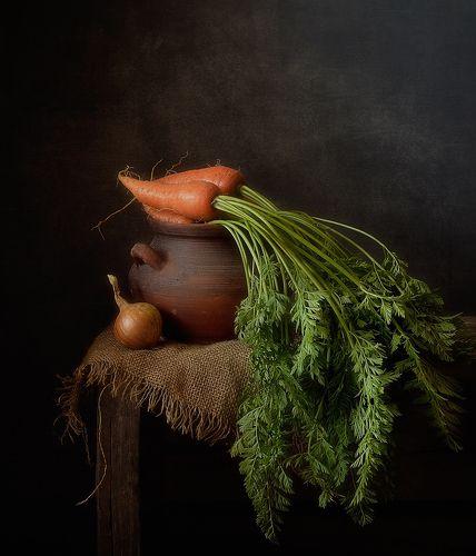 с морковкой...