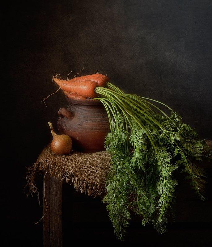 натюрморт,лук,морковь,осень с морковкой...photo preview