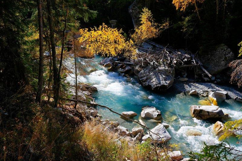 гоначхир, теберда, кчр, река, горы, осень, карачаево, черкессия, photo preview