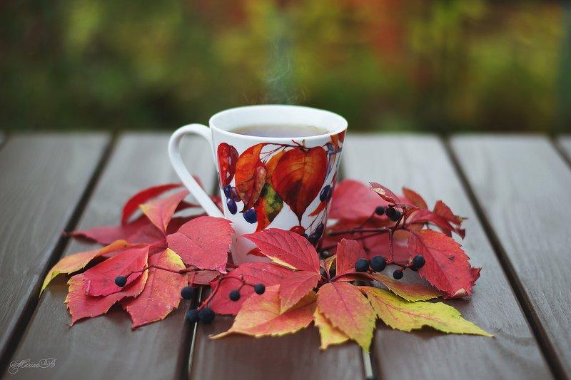 осень, чай, осенние листья Осенний чайphoto preview