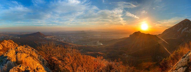 осень,бештау,козьи скалы,пейзаж,природа,закат,октябрь Про теплый октябрьский вечерphoto preview