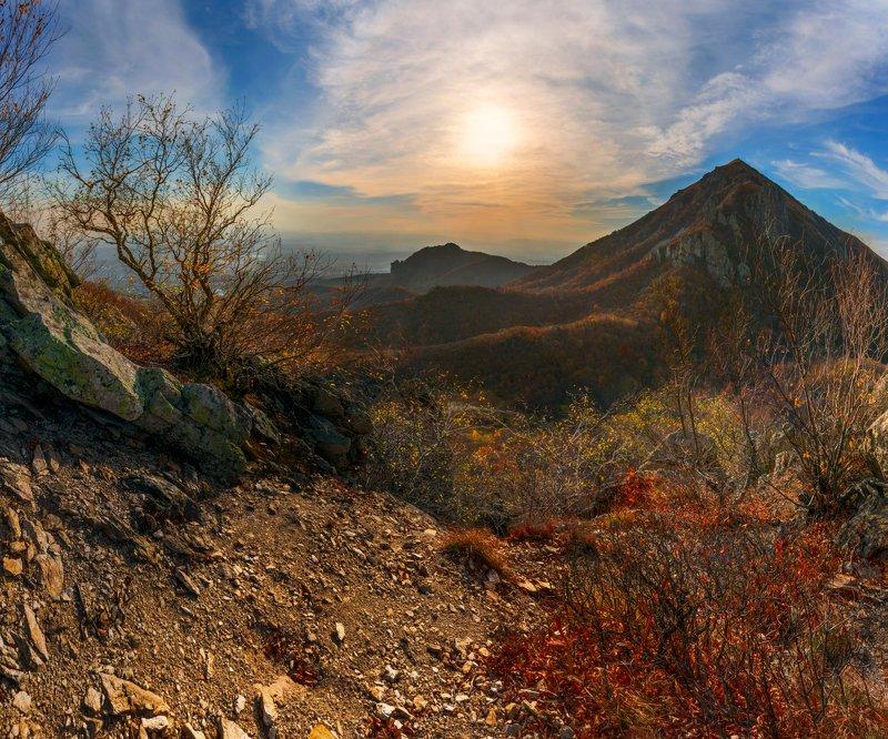 осень,бештау,козьи скалы,пейзаж,природа,закат,октябрь Теплая осеньphoto preview