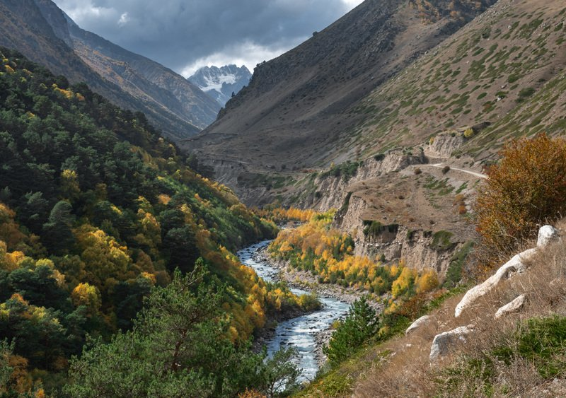 горы, чегем, башиль,  кбр, природа, осень, кавказ, ***photo preview
