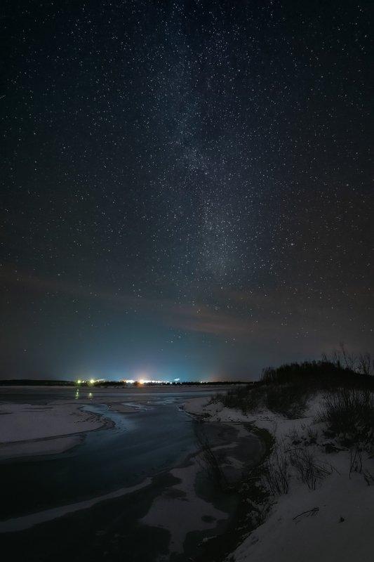 печора,ночь,звезды Ледостав на р.Печораphoto preview