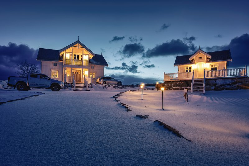 norway, svolvaer, svolver, winter, mountain, houses, sunrise, cold, snow Зимняя сказкаphoto preview