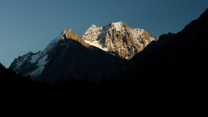 домбай, осень, горы, кчр, домбайульген, пикинэ, photo preview