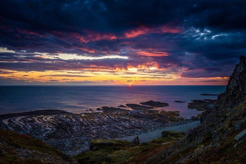 рыбачий, утро, облака, свет Восходы Севераphoto preview