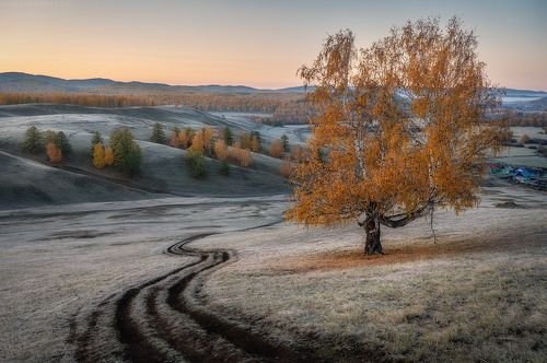 Морозное осеннее утро
