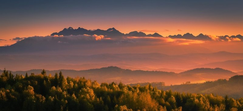 Tatra mountains during sunsetphoto preview
