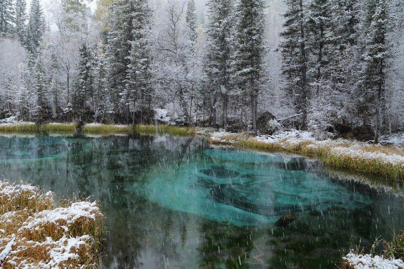 Алтай Акташ Гейзерное о. зима снег в сентябреphoto preview