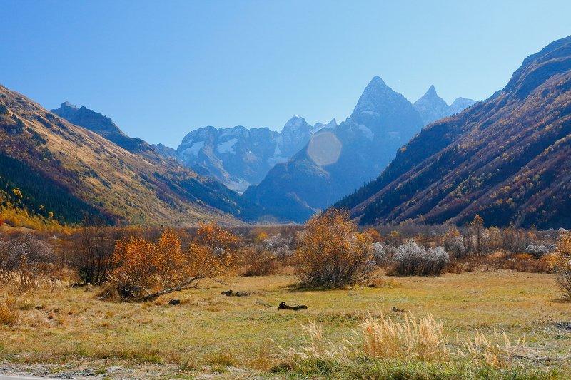 осень, горы, кчр, гоначхир, Гоначхирское ущельеphoto preview
