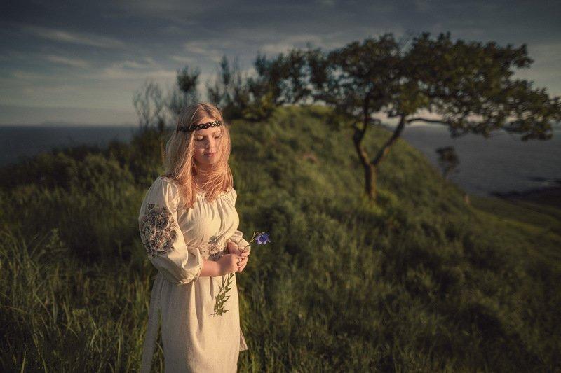девушка, природа, цветок В гостях у сказки.photo preview