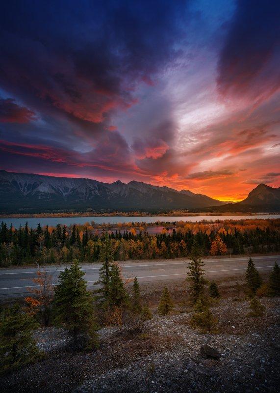 abraham, lake, rockies, sunrise ЗАРЯphoto preview