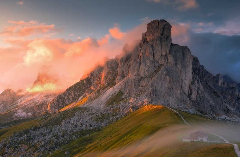 Passo Giau during sunsetphoto preview