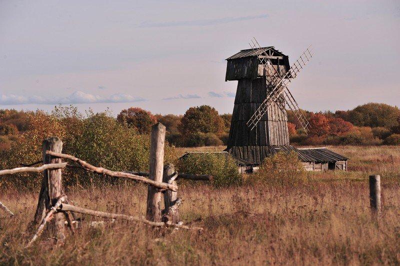мельница, пейзаж,природа, река, вода, осень, россия,  Старые мельницы.photo preview