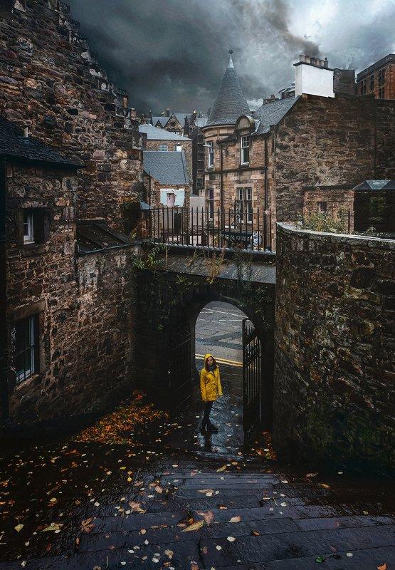 город, архитектура, великобритания, шотландия, эдинбург Old storiesphoto preview