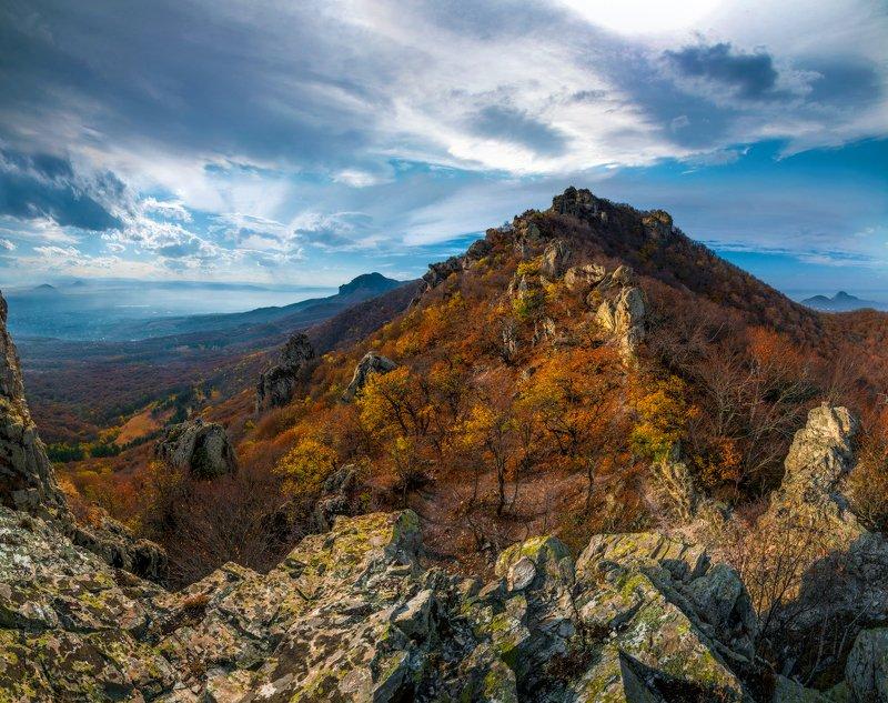 осень,бештау,козьи скалы,пейзаж,природа,октябрь Про хребет драконаphoto preview