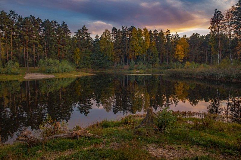 октябрь саврасово осень вечер вода отражение Саврасово. Вечерphoto preview