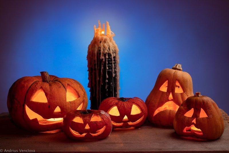 autumn, candle, halloween, pumkin, still life, studio Happy Halloween!photo preview
