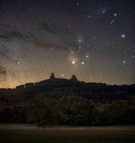 Galaxy over the castle..