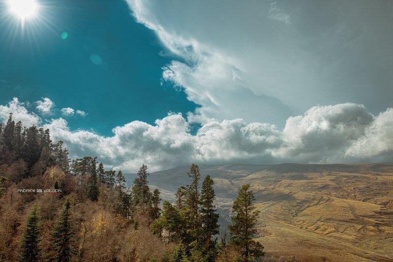 плато пейзаж лагонаки гроза тучи альпика луга Грозовой фронтphoto preview