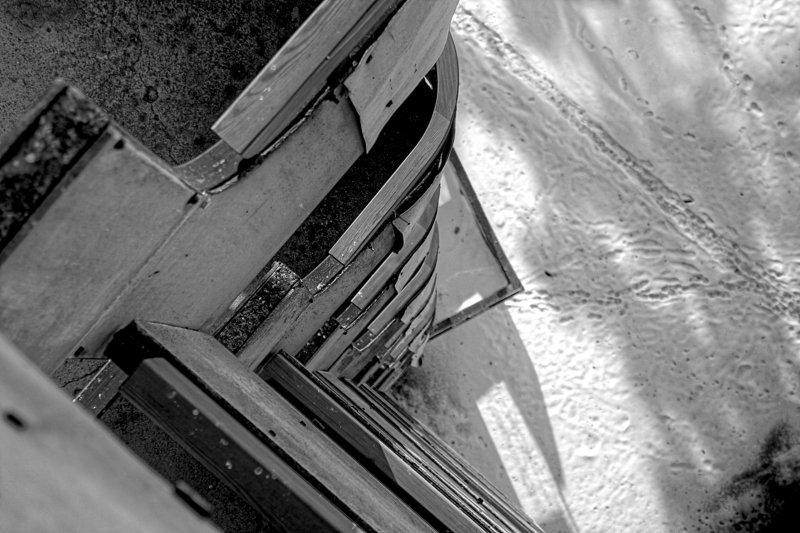 балкон, балконы, высота, снег, чб, этаж last floorphoto preview