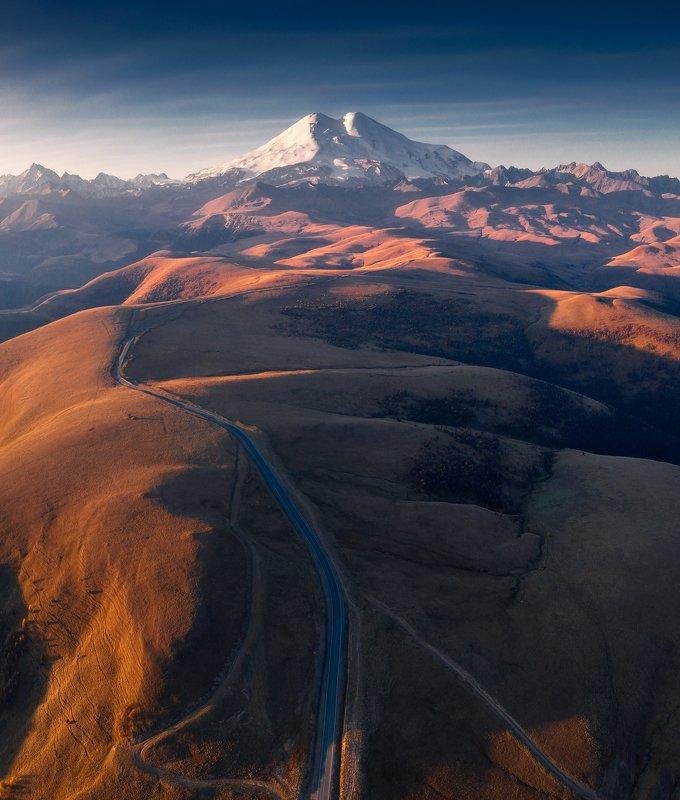 эльбрус, кавказ, пейзаж, elbrus, mountain, горы The road to Elbrusphoto preview
