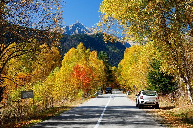 гоначхир, кчр, теберда, домбай, осень, гоначхирское, ущелье, горы, photo preview