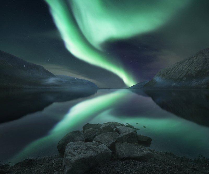 aurora borealis, северное  сияние, полярное сияние, кольский  полуостров, сейдозеро Geometryphoto preview