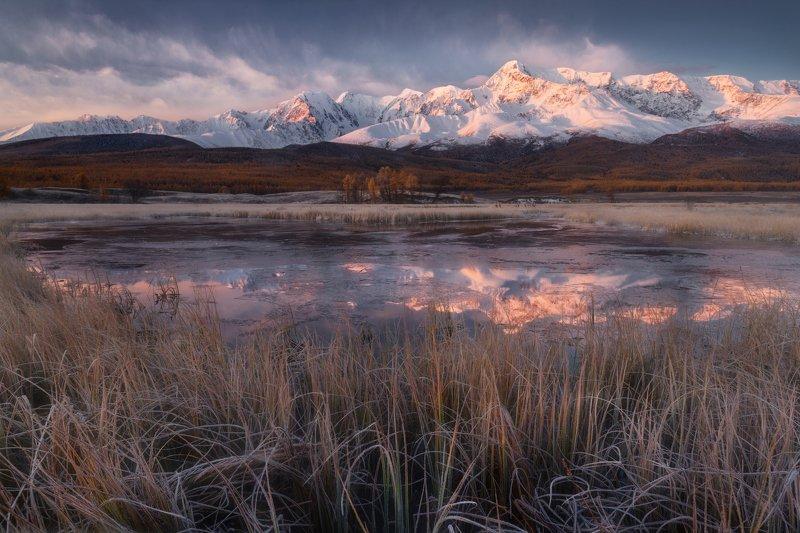 джангысколь, алтай, озеро, пейзаж, отражение, осень, ештыкель В осколках осеннего утраphoto preview