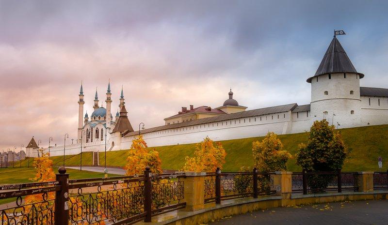 Казань, осень,  городской пейзаж, небо, рассвет, мечеть, утро Казаньphoto preview