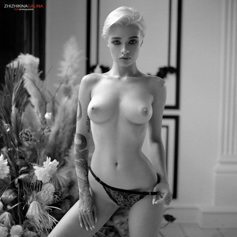 bw, black anr white, nu, nude, artnu, naked, girl, face, portrait, чб, топлесс, ню, артню, черно-белое, белье, девушка Анастасияphoto preview