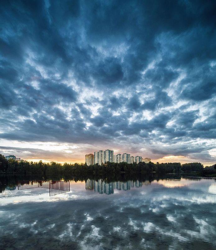 закат озеро Нижний Новгород небо На закатеphoto preview