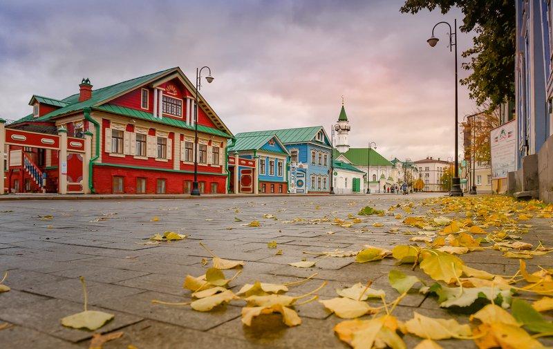 Казань, осень,  городской пейзаж, небо, рассвет, мечеть, утро Казанская осеньphoto preview