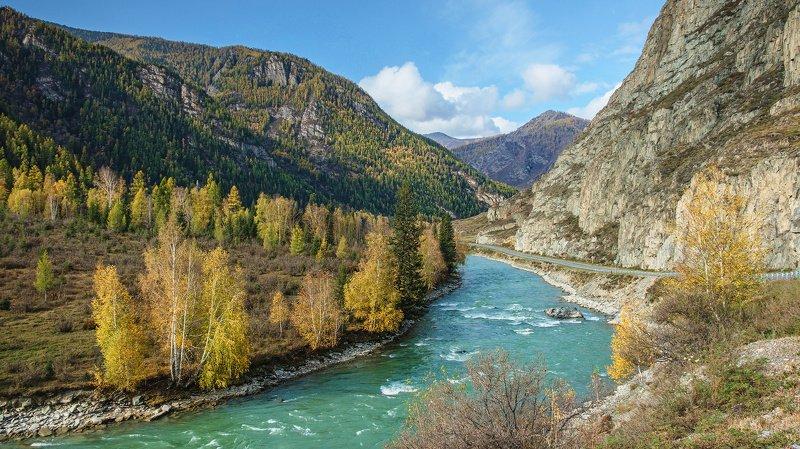пейзаж, горы,река,Горный Алтай  Красавица Катунь. photo preview