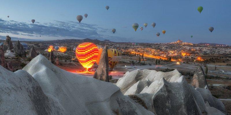 turkey, cappadocia, night, early morning Early morning in Cappadociaphoto preview