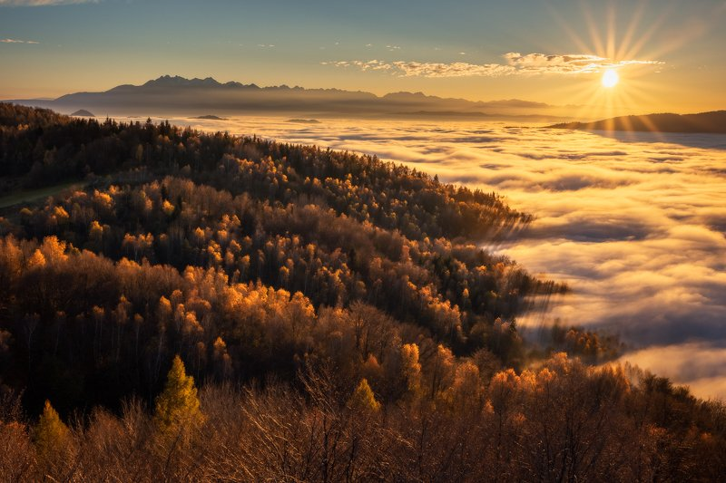 Autumn sunsetphoto preview