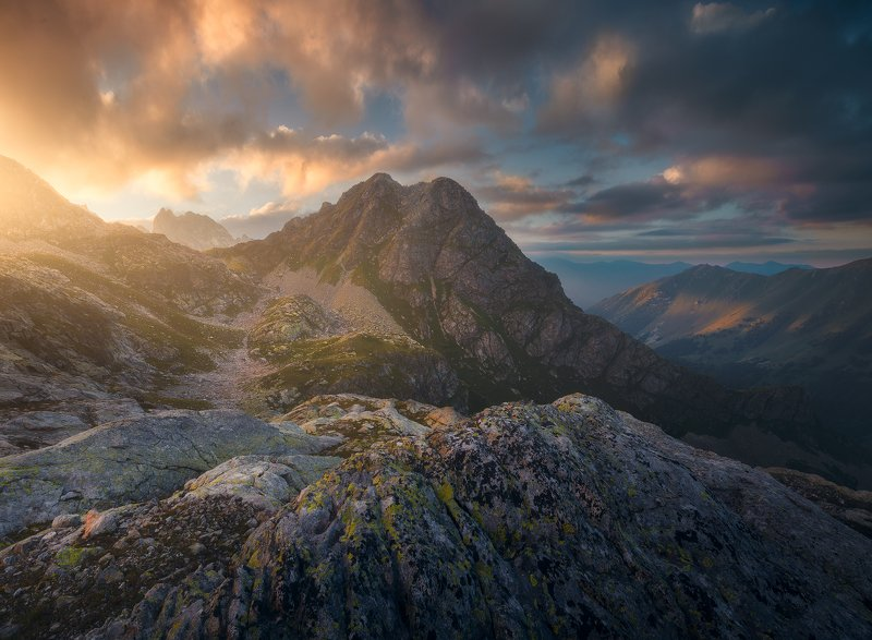 #лето2020, #кавказ, #пейзаж, #закат, #софийские, #озера, #кчр Западный Кавказphoto preview