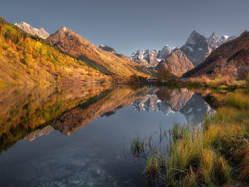 кавказ домбай туманлыкель озеро озера горноеозеро Озеро Туманлы-Кельphoto preview