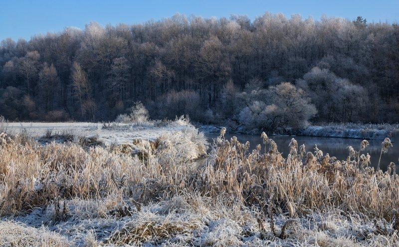 зима, река, полдень, Зимняя рекаphoto preview