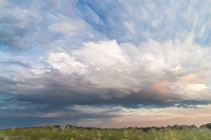 небо, Акварельные облака #1photo preview