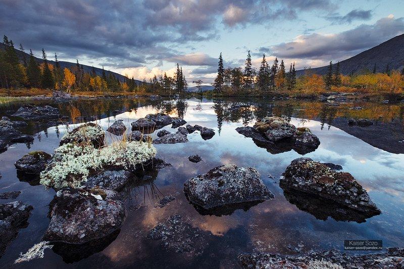 россия, хибины, полигональные озера, заполярье, кольский Perfect bluephoto preview
