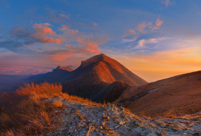 вечер,закат,бештау,малый тау,кмв,природа,пейзаж,ноябрь Накануне похолоданияphoto preview